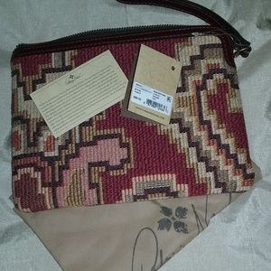 Patricia Nash tapestry zip top clutch, NWT